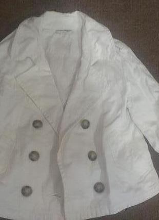 Белый пиджак куртка пиджак жакет