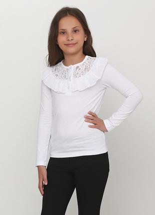 Блуза Vidoli кофточка реглан бежевый с кружевом 146