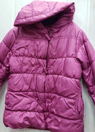 Куртка на девочку 6-7 лет с манжетом