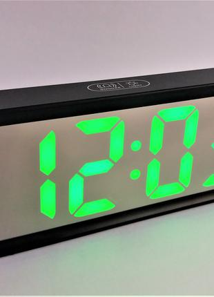Часы настольные зеркальные LED DT-6508 с зеленым дисплеем