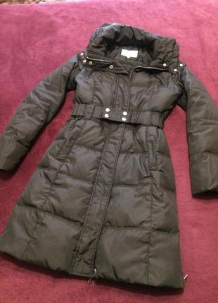 Пальто-пуховик, куртка зима/осень пух, перо