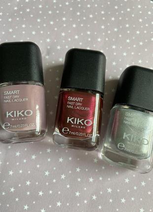 Набор!! быстро сохнущие лаки для ногтей от kiko milano smart f...