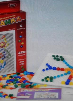 АКЦИЯ! Мозаика развивающая Play Smart на 220 фишек, в коробке