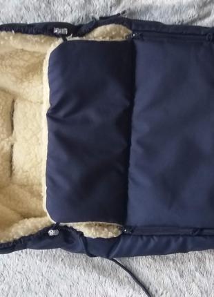 Конверт на овчине BabyBreeze в идеальном состоянии