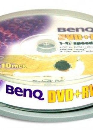 Читсые диски DVD+RW BenQ 4.7Gb 1-4x за 1 шт.