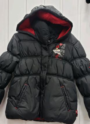 Зимняя теплая куртка с вышивкой на рост 104-110см