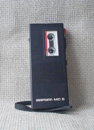 №193 Диктофон MC 8 assamann uner № 018334 с кассетой кроны нет