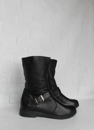 Зимние кожаные ботинки, сапоги, полусапожки 39 размера