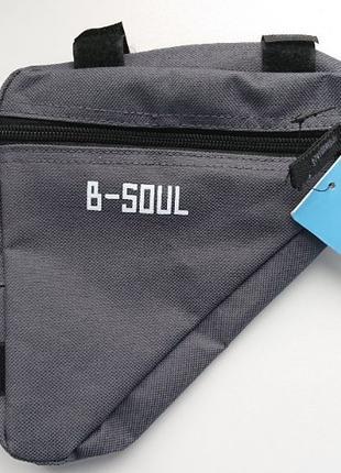 НОВАЯ Велосипедная сумка на раму B-Soul! Не Дорого и Удобно!