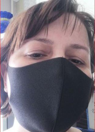 Легкая маска. Защитная, многоразовая из неопрена, маска Pitta,...