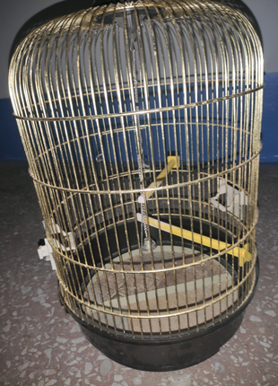 Клетка для птиц полукруг 40×70