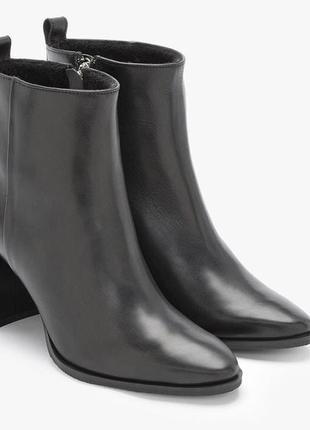 Шикарные женские ботинки ботильоны кожа деми