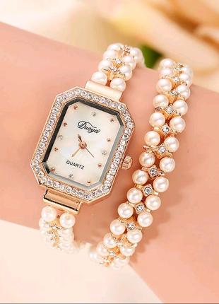Часы жемчужный браслет