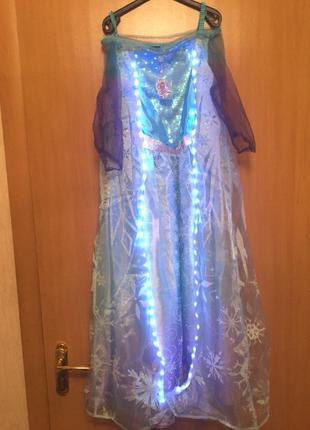 Карнавальное платье эльза холодное сердце светящееся