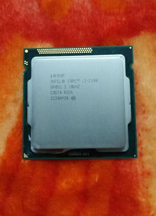 Процессор Intel Core i3-2100 (3 МБ кэш-памяти, 3,10 ГГц) Socke...