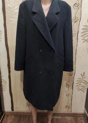 Delmod прямое двубортное пальто, шерсть и кашемир