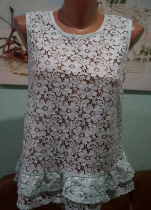 Кружевная блуза р.л,бренд sisters