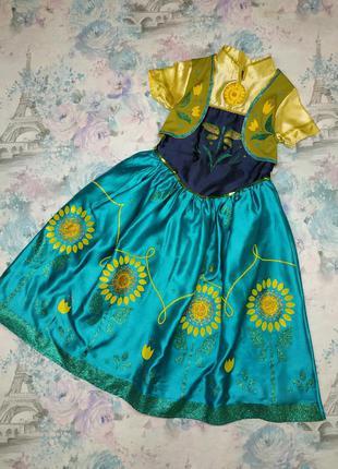 Карнавальный костюм,платье анны  бренд rubie's на 5-6 л