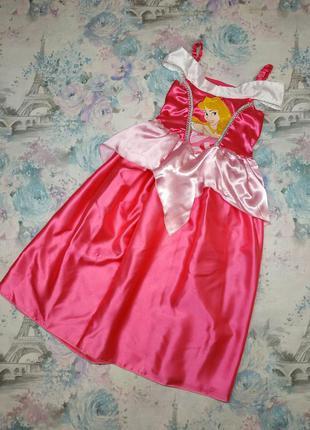 Платье авроры, принцесса,карнавальный костюм disney на 5-7 лет