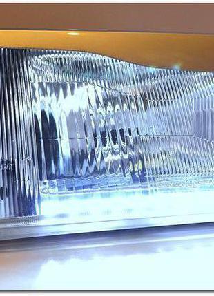 фары 2109 серебро с ходовыми огнями