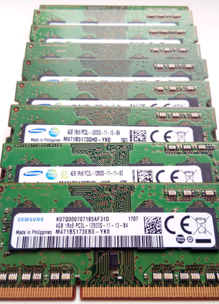 SO-DIMM DDR3 4Gb PC3-10600/12800 (1333/1600MHz) Intel/AMD ноутбук