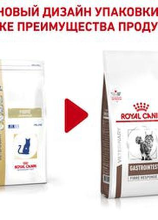 Лечебный сухой корм для котов Royal Canin Fibre пачка по 4кг