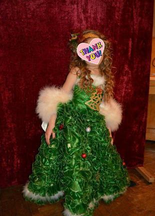 Прокат карнавальное платье елочки елки карнавальный костюм елочки