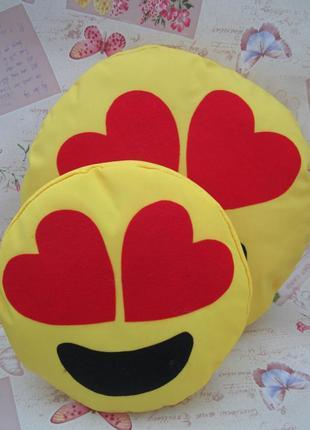 Комплект подушок-смайликов emoji smile (большая+маленькая) №1