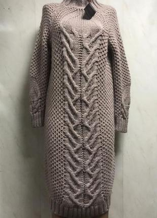 Платье крупной вязки италия