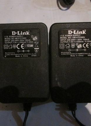Блок питания Постоянн. трансф. 7,5V 1,5A Dlink mod AM-0751500V