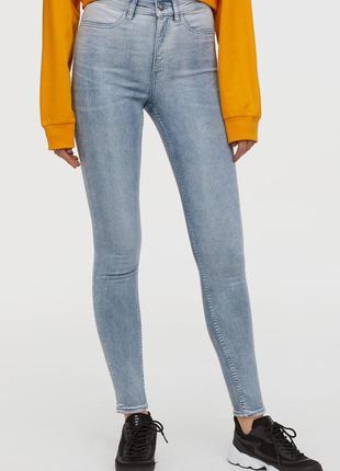 Оригинальные джинсы super skinny high от бренда h&m разм. 36