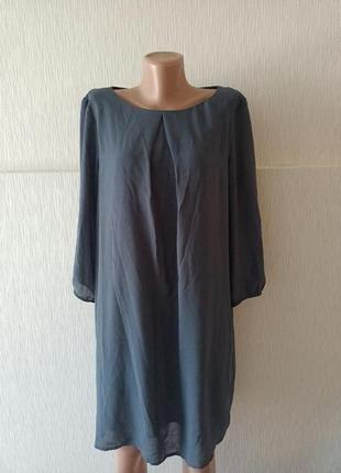 Платье шифоновое свободный крой h&m