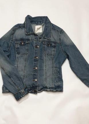Куртка джинсовая женская denim co джинсовую синяя короткая