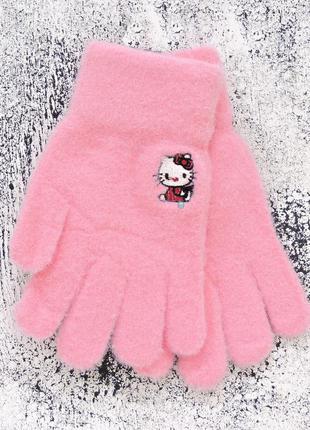 "Детские перчатки ""hello kitty"" розовые"