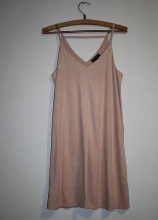 Платье мини из эко-замши/ платье в бельевом стиле/ плаття під ...