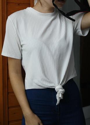 Обалденная базовая футболка oversize в рубчик boohoo