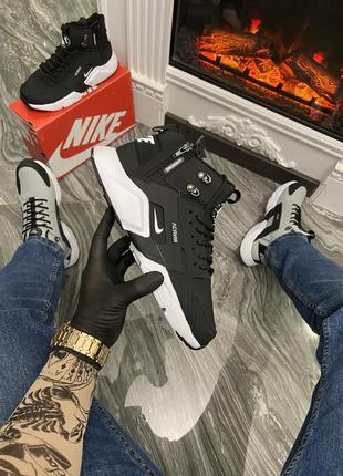 Nike air huarache mid black/white {термо}