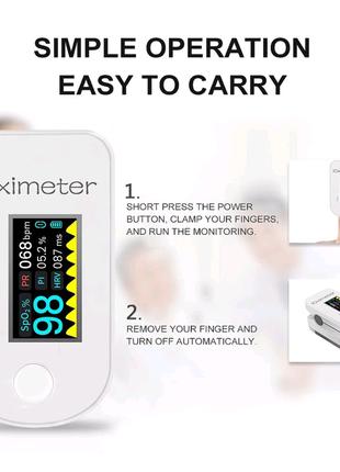 Ih018 oximetr Пульсоксиметр на палец электронный оксиметр