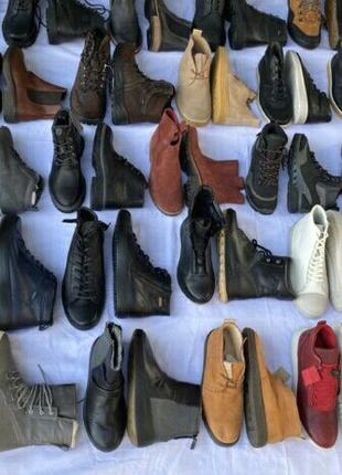 Сток обувь, оптом, кожа, зима, ботинки