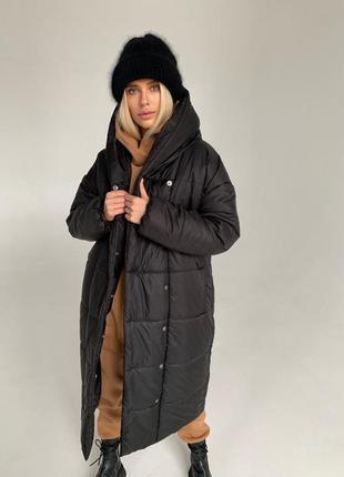 Куртка пальто пуховик зимний удлиненный оверсайз