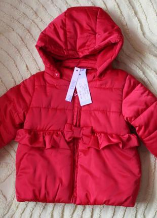 Куртка idexe  утепленная еврозима 74-80 см с биркой для девочки