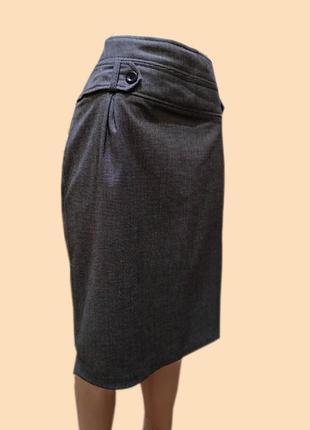 Юбка серая с подкладкой