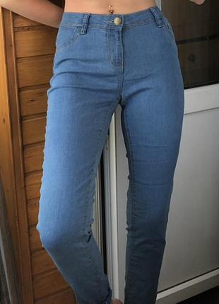 Базовые узкие летние джинсы denim co