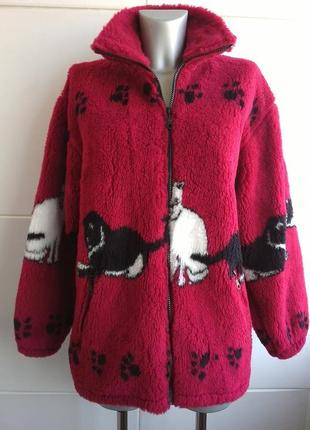 Оригинальная деми куртка в стиле шубки оверсайз
