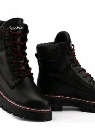 Женские ботинки кожаные зимние черные Carlo Pachini 4-2497/21-14