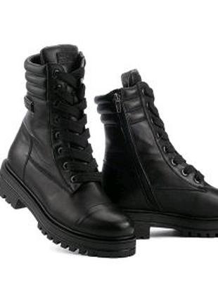 Женские ботинки кожаные зимние черные Carlo Pachini 4606/20-11