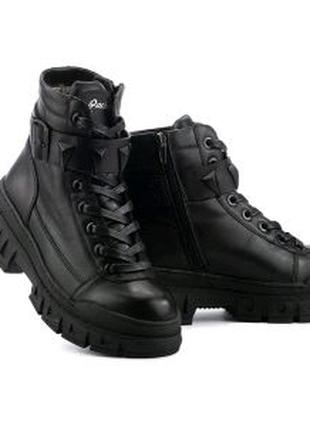 Женские ботинки кожаные зимние черные Carlo Pachini 4647/21-11