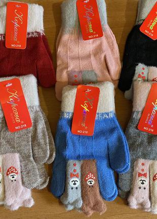 Теплые перчатки для девочек
