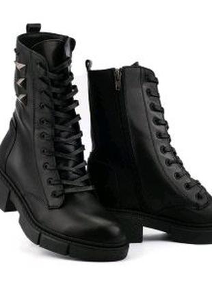 Женские ботинки кожаные зимние черные Carlo Pachini 4-4648/21-11