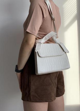Сумка біла, маленькая сумка, белая сумка, маленька сумка.